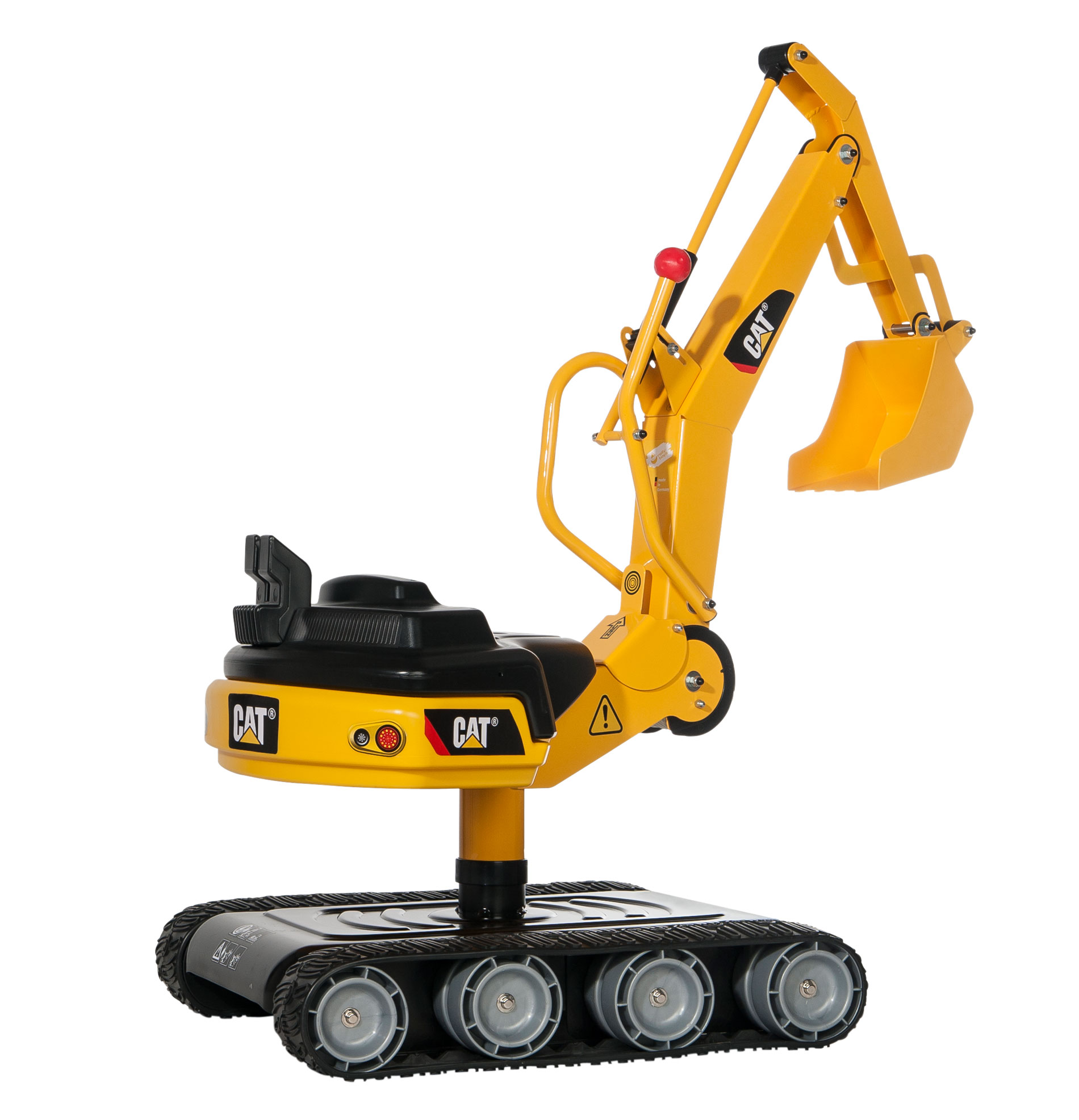 Rollytoys rollyDigger XL Caterpillar (CAT) op rupsbanden