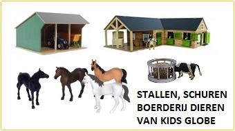 Kidsglobe stallen, schuren en agrarisch speelgoed