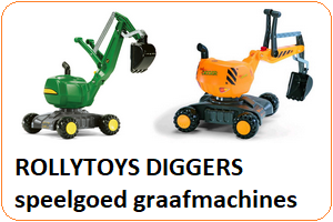 Rollytoys speelgoed graafmachines / diggers